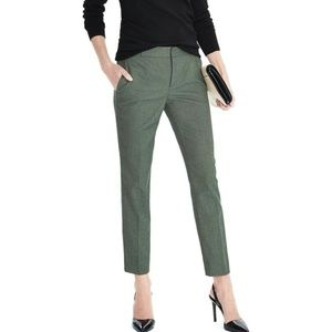 Banana Republic Avery Cropped Pants Olive Green